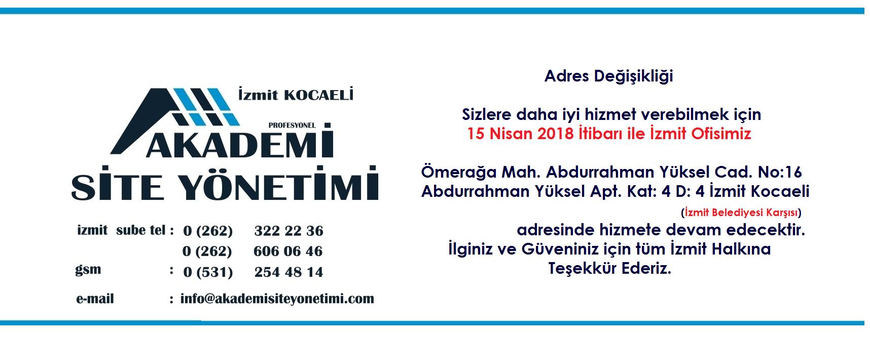 Akademi Profesyonel Site Yonetimi, İzmit Site Yonetimi, Kocaeli Site Yonetimi